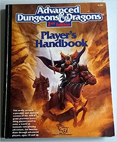 advanced dungeons and dragons players handbook 2nd edition